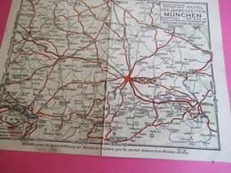 Plan Publicitaire 2 Volets/Ville De Munich & Environs/MÜNCHEN/Hotel Vier Jahreszeiten/Restaurant Walters/1960 ?   PGC319 - Transports
