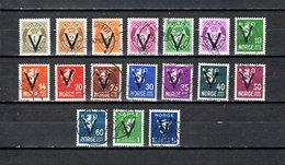Noruega  1941  .-   Y&T  Nº      235A/235H-235L/235T - Gebraucht