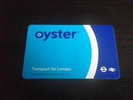 Titre De Transport OYSTER - Métro