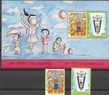 INDIA, 2019, MNH,CHILDREN, CHILDREN'S RIGHTS, 2v+S/SHEET - Childhood & Youth