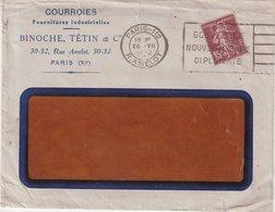 FRANCE : 15 Cts . BRUN . TYPE SEMEUSE . PERFORE LB . BINOCHE Et TETIN . 1932 . - 1921-1960: Période Moderne
