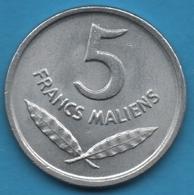 MALI 5 FRANCS MALIENS 1961  KM# 2 Hippopotamus - Mali (1962-1984)