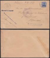 """BELGIQUE COB OC31 SUR LETTRE DE GENT VERS BRUSSEL """"DURCH PRAS DER ZIVILVERW FUR OSTFLANDERN IN GENT (DD) DC-6946 - Weltkrieg 1914-18"""
