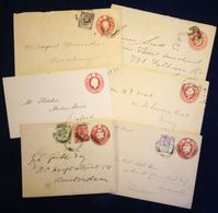 Great Britain 1 D Edward VII Postal Stationary Envelopes 1902-11, Various Sizes, Papers 6 Ex. All Used 2002.1804 - 1902-1951 (Koningen)