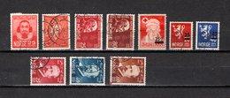Noruega  1947-49  .-   Y&T  Nº      304-305-306/307-308-309/310-311/313 - Used Stamps
