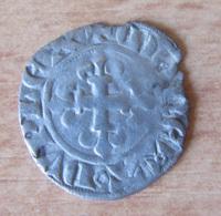 France - Monnaie Double Parisis Charles IV (1322 - 1328) En Billon - Diam. 20 Mm, Poids : 0,9 Gr - 1322-1328 Charles IV Le Bel