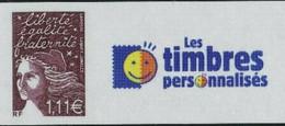 """LUQUET 1,11 BRUN N°Yt 3529C PERSONNALISÉ """"LES TIMBRES PERSONNALISÉS"""" - 1997-04 Marianne Van De 14de Juli"""