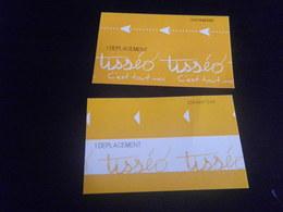 Titre De Transport TISSEO TOULOUSE X2 - Métro