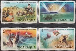 NICARAGUA - Scott #1085@1088 Jules Verne / Set Of 4 Mint NH, H Stamps (k1249) - Esploratori