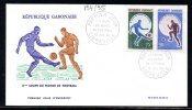GABON 194/95 Et A 047 Fdcs 8éme Coupe Du Monde De Football 1966 Angleterre - Coupe Du Monde