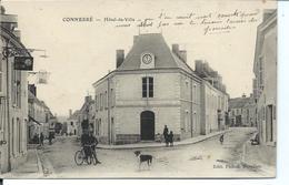 CONNERRE - Devant L'Hôtel De Ville - Commerce Enseigne HUILE JUPITER A D - Connerre