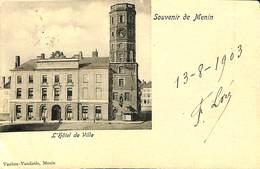 CPA - Belgique - Menin - L'Hôtel De Ville - Hoegaarden