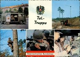 Ansichtskarte  Österreichisches Bundesheer Tel.-Truppe Ua. Im VW Bulli 1970 - PKW