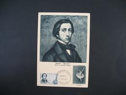 Carte-Maximum 1960   N° 1162 Degas Cachet Paris - Maximumkarten
