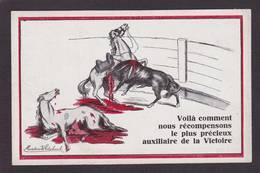 CPA Protection Animale Taureau Cheval Horse Non Circulé - Bull