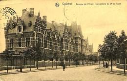 CPA - Belgique - Kortrijk - Courtrai - Caserne De L'Ecole Régimentaire Du 2e De Ligne - Hoegaarden