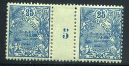 NOUVELLE CALEDONIE - N° 95 MILLÈSIME 5 , CHARNIÈRE CENTRALE - TB - Nouvelle-Calédonie