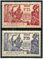 Martinique (1939) N 168 à 169 * (charniere) - Martinique (1886-1947)