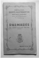 Institution Sainte Austreberthe - Montreuil Sur Mer - PALMARES 1961                      ****  A VOIR   **** - Picardie - Nord-Pas-de-Calais