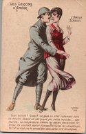 CPA Humoristique : Les Leçons D'amour  - L'AMOUR SENSUEL - Humoristiques