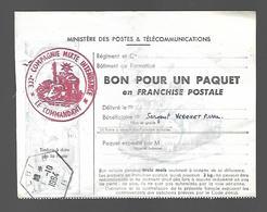 ALBI Bon Pour Un Paquet En Franchise Postale Cachet Hexagonal ALBI B - Franchise Militaire (timbres)