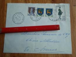Enveloppe Timbrée De MONTBENOIT 1967 4 Timbres - Autres