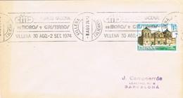 35809. Carta VILLENA (Alicante) 1974. Rodillo Especial Congreso Moros Y Cristianos - 1931-Hoy: 2ª República - ... Juan Carlos I