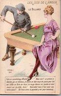 CPA Humoristique : LES JEUX DE L'AMOUR      LE BILLARD - Humoristiques