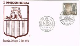 35810. Carta Exposicion SEGORBE (Castellon) 1976. Pintor, JOSE CAMARON - 1931-Hoy: 2ª República - ... Juan Carlos I