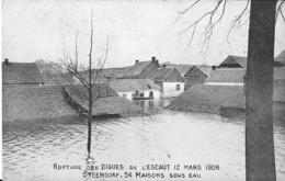 STEENDORP - RUPTURE DES DIGUES DE L'ESCAUT 12 MARS 1906   54 MAISONS SOUS EAU - Belgique