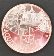 10 EUROS ARGENT 2011 - REGION AQUITAINE - VENDU DANS SACHET PLASTIQUE - France