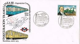 35812. Carta BARCELONA 1974. Ferrocarril, Metro, 50 Aniversario METRO Linea III - 1931-Hoy: 2ª República - ... Juan Carlos I
