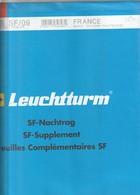 France Feuilles Leuchtturm Pré-imprimé Avec Pochettes Jeu France 2009 Bloc Souvenir - Albums & Reliures