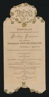 FEESTMAAL  PLECHTIGE COMMUNIE 1933 TE OUDENBURG       16 X 7.5 CM - Menus