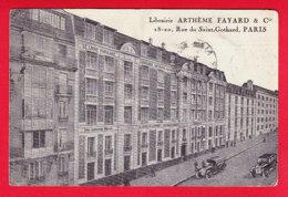 F-75-Paris-668P85  La Librairie Anthème FAYARD, Les Voitures, Cpa - Arrondissement: 14