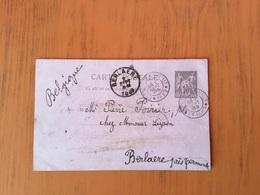 119CP Vers Berlaere En 1889 Oblitéré Exposition Universelle 1889 - Entiers Postaux