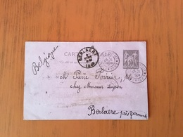 119CP Vers Berlaere En 1889 Oblitéré Exposition Universelle 1889 - Postal Stamped Stationery