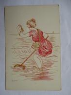 JEUNE  PECHEUSE    DE  CRABES   -  LA  PINCE   ......     TTB - Künstlerkarten