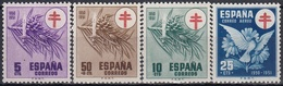 ESPAÑA 1950 Nº 1084/87 NUEVO PERFECTO - 1931-50 Ongebruikt