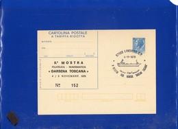 ##(PAP1)-1978-Cartolina Postale L.60, Stampa Privata-repiquage 8^ MOSTRA DARSENA TOSCANA Edizione Numerata -ship Cancel - Ganzsachen