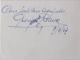GEORGES RONSSE - Autographe / Signature Authentique Sur Carte Bristol Blanc - Cyclisme