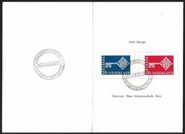 1968 - NEDERLAND - FDC - SG 1055/1056 [Europa] + FILATELISTENBEURS AMSTERDAM - FDC