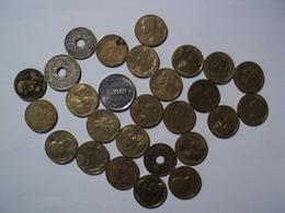 LOT DE 27 PIECES DE 5 CENTIMES DIFFERENTES. 1920 / 1998 - C. 5 Centimes