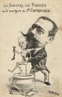 POLITIQUE-ROUVIER-MINISTRE CABINET COMBES-CARICATURE SATIRIQUE LAVIGNE-SCATOLOGIE-POT DE CHAMBRE-EXCREMENT - Satirische