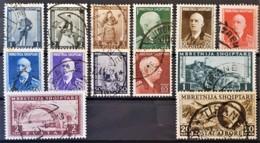 ALBANIA 1939 - Canceled - Sc# 310-321, C46 - Mi 298-309, 312 - Albanie