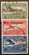 ALBANIA 1929 - Canceled - Sc# C22-C24 - Mi 210-212 - AirMail - Albania