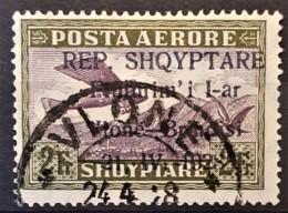 ALBANIA 1928 - Canceled - Sc# C20 - Mi 167 - AirMail Vlone-Brindisi - Albania