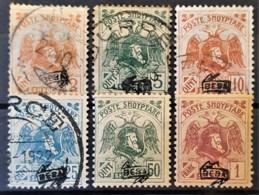 ALBANIA 1921 - MLH/canceled - Sc# 135-140 - Mi 76II-81II - Albanie