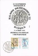 35818. Tarjeta Maxima RIPOLL (Gerona) 1981. Exposicion A RAMON BERENGUER III - Tarjetas Máxima
