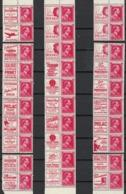 Belgien Belgium 1941. Mi.Nr. 581, 30 Stk.mit Reklamen, Postfrisch **, MNH - Belgique